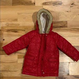 Old Navy Kids Fleece Lined Coat, Size 3T, EEUC